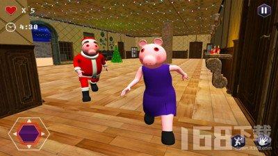 恐怖圣诞老人小猪