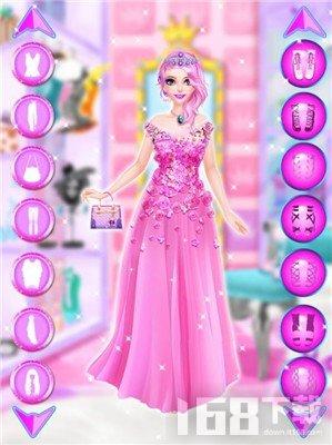粉红公主装扮女孩