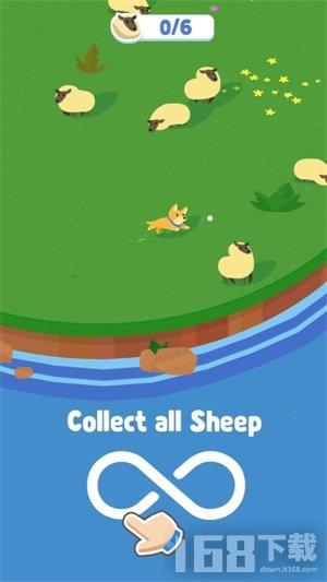 牧羊犬小绵羊