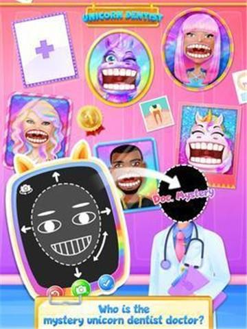 彩虹独角兽牙医