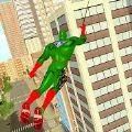 城市绿色绳索英雄