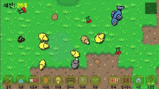 像素养殖鸡