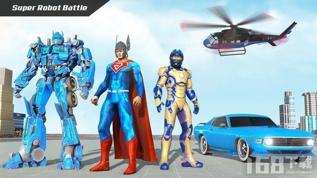 飞行超级英雄机器人救援