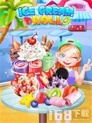 冷冻冰淇淋卷制作