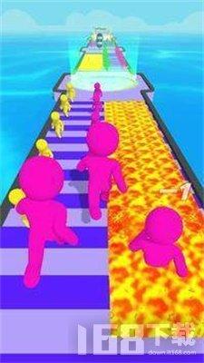 彩色巨人奔跑
