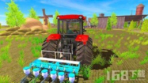 农田拖拉机耕作